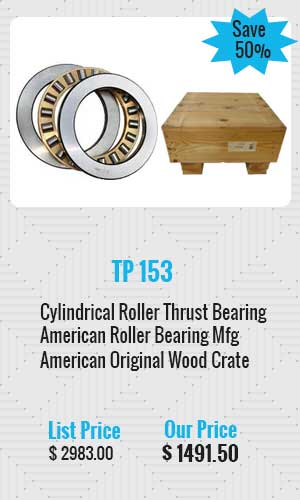 American Cylindrical Roller Thrust Bearing
